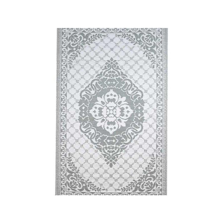 Buitentapijt grijs met wit arabisch