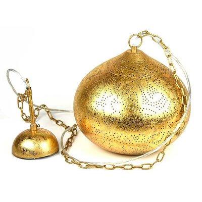 Gouden hanglamp oosters filigrain