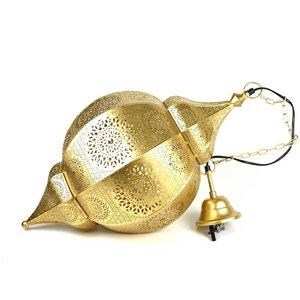 Filigrain arabische hanglamp goud
