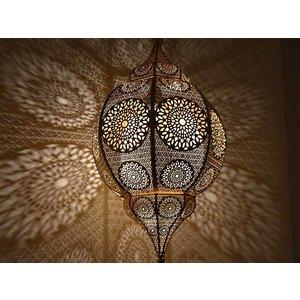 Filigrain hanglamp goud