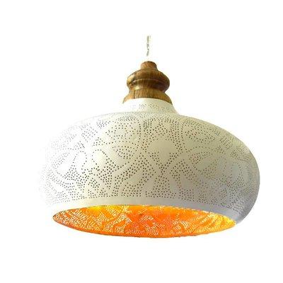 Witte filigrain grote open hanglamp