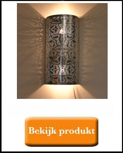 Zilveren wandlamp filigrain