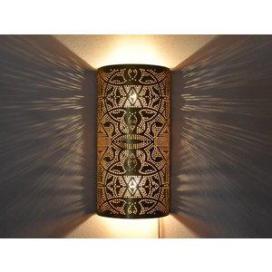 Wandlamp goud vintage filigrain