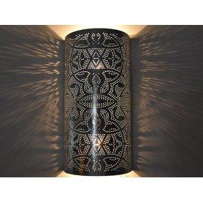 Wandlamp zilver filigrain