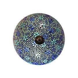 Plafonniere blauw turquoise