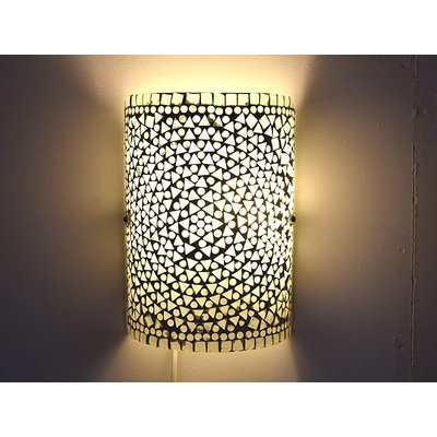 Wandlamp glasmozaïek transparant traditioneel design