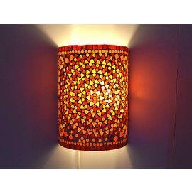 Oosterse wandlamp rood