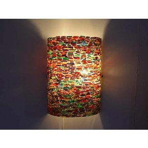 kleurrijke wandlamp mozaïek multi colour