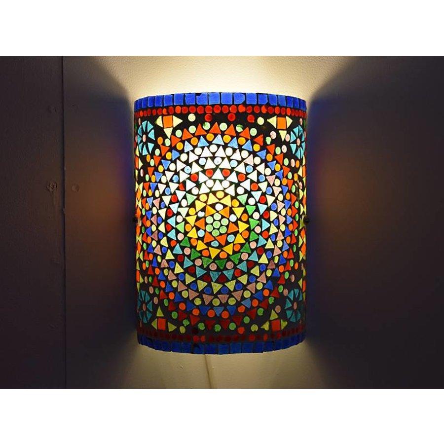 Oosterse wandlamp mozaïek multi colour