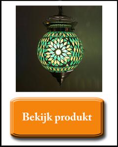 Groen mozaïek hanglamp