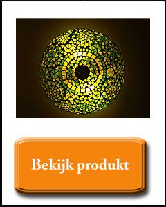 Plafonnière groen geel van glasmozaiek