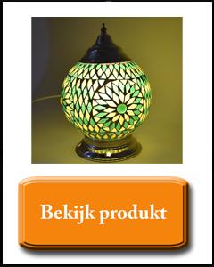 Groene tafellamp van glasmozaiek