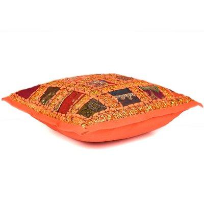 Oranje oosters kussen India