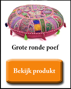 Grote ronde poef