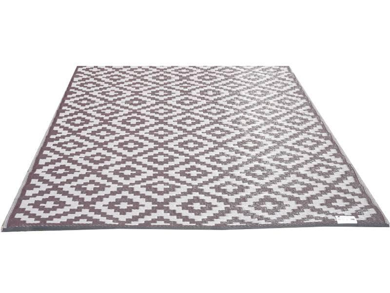Buitenvloerkleed taupe en warm grijs design - Taupe en grijs ...