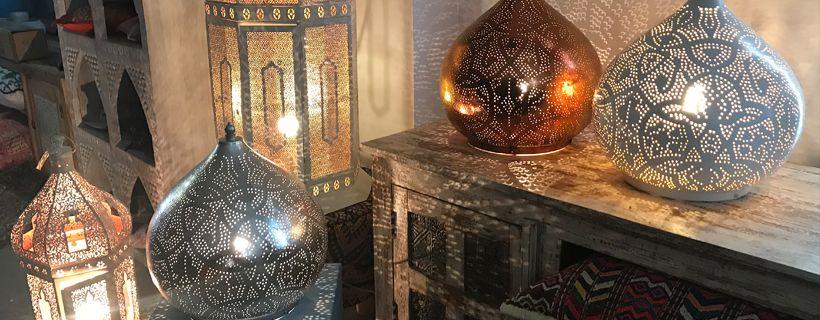 Tafellampen in arabische stijl