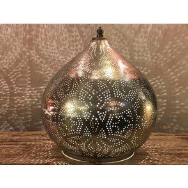 Filigrain tafellamp zilver