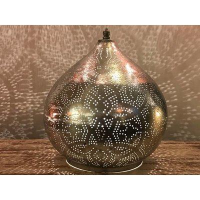 Filigrain oosterse tafellamp zilver