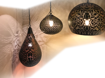 oosterse lampen met mystieke sfeer