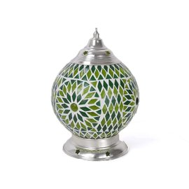 Tafellampje groen mozaïek