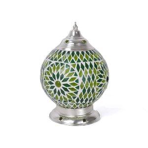 Tafellampje oosters groen mozaïek