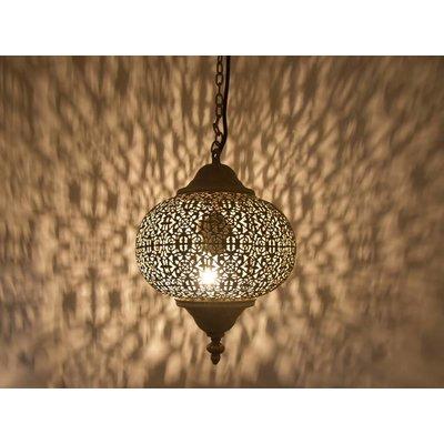 Klein zilver hanglampje gaatjespatronen