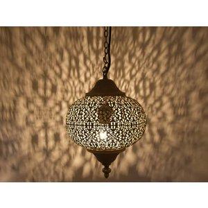 Goud bruin hanglampje filigrain