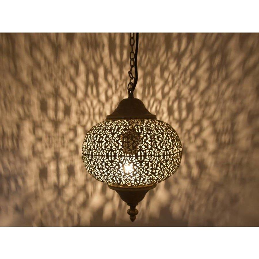 Goud bruin oosters hanglampje filigrain