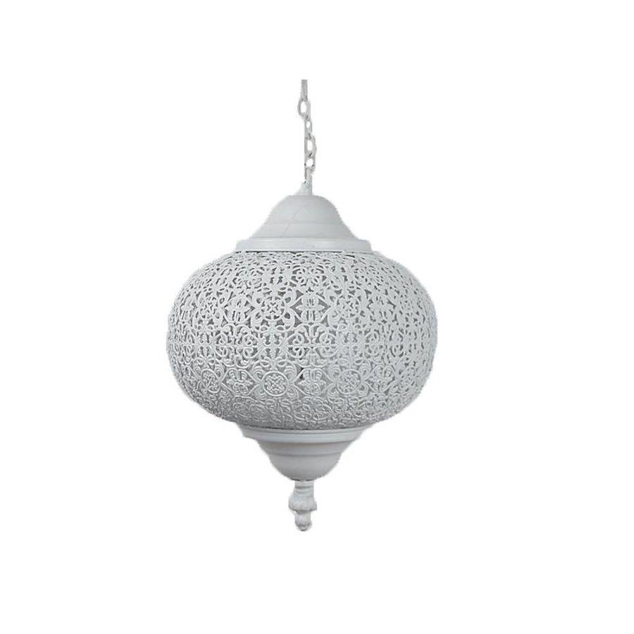 Wit oosters hanglampje filigrain
