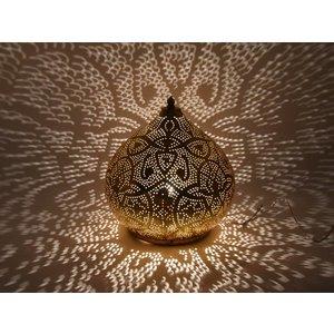 Tafellamp arabisch goud filigrain