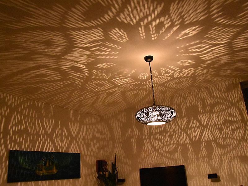 Filigrain hanglamp lichteffect met ECO LED 60 watt