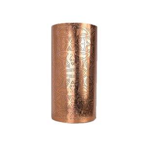 Wandlamp koper filigrain cilinder