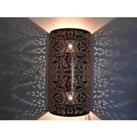 Koperen wandlamp  filigrain