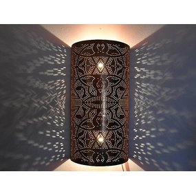 Wandlamp koper filigrain