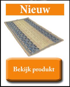 Blauw goud kelim tapijt