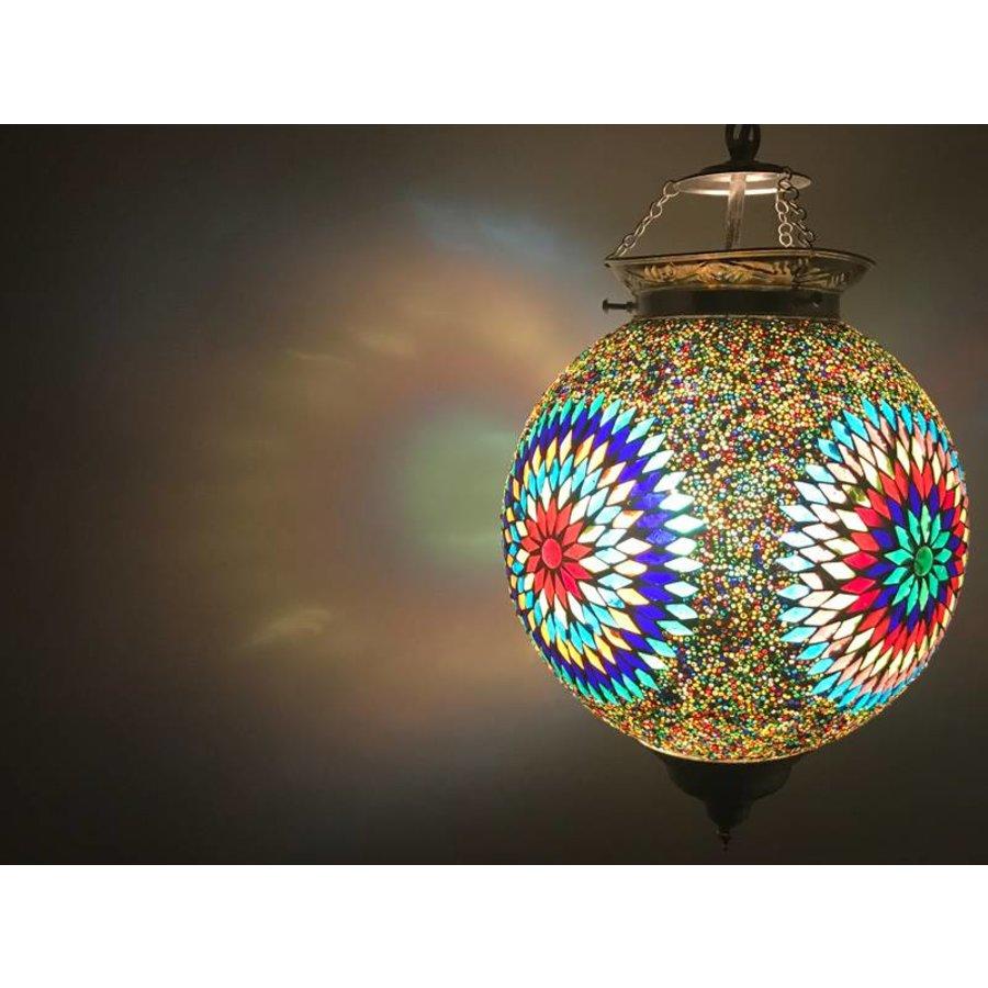 Oosterse hanglamp mozaïek multicolor kleurrijke lamp