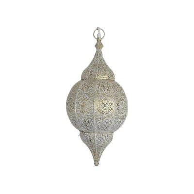 Witte oosterse lamp met filigraan patronen