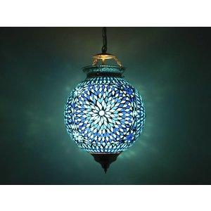 Hanglamp blauw mozaïek turkisch design