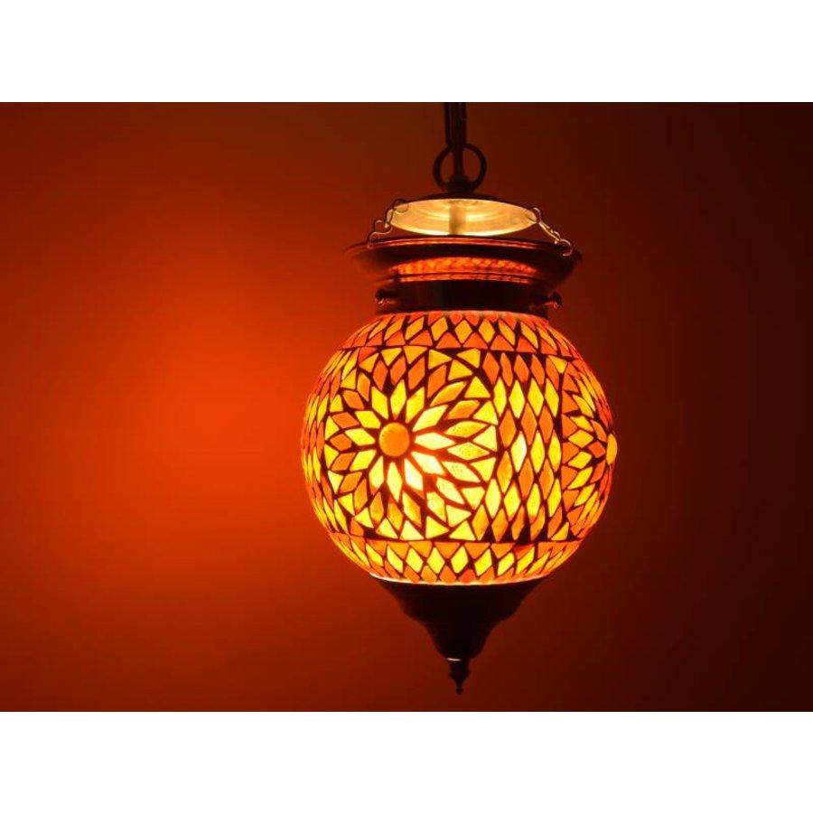Hanglamp mozaïek rood oranje turkish design