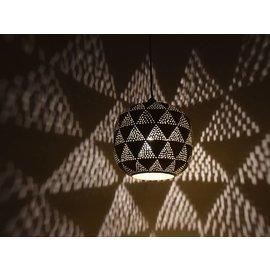 Messing grafisch hanglampje