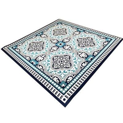 Barbeque mat orientaals blauw