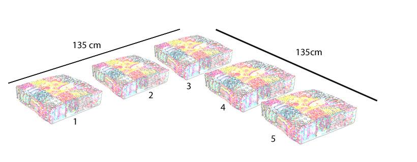 45 cm zitkussens voor houten bank voordeel set