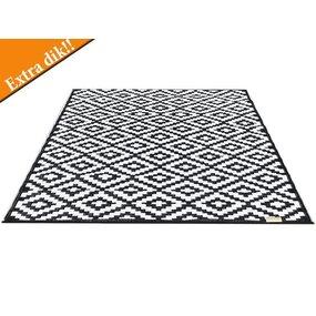 Wonder Rugs Buitencarpet zwart wit