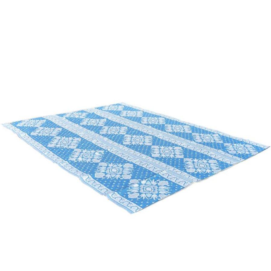 Wonder Rugs Extra groot buitenkleed lichtblauw met blauw en wit
