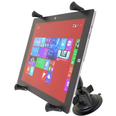 RAM Mount X-Grip 12 inch iPad Pro Tablet Houder zuignap montage