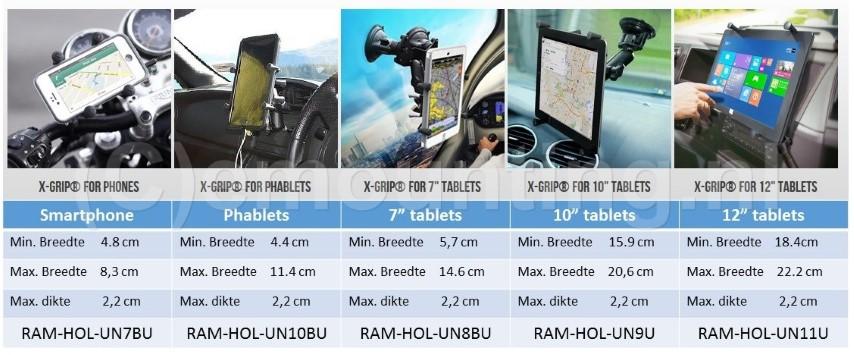 Overzicht X-Grip houder emounting.nl