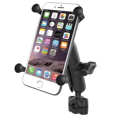 "RAM Mount Torque™ 3/8"" - 5/8"" Diameter Mini Rail Base X-Grip® for Larger Phones"
