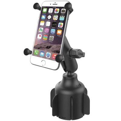RAM Mount Stubby™ Cup Holder base met X-Grip large smartphone