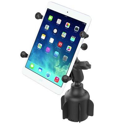 RAM Mount Stubby™ Cup Holder base met X-Grip kleine tablets