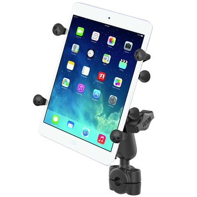 """RAM Mount Torque™ 3/8"""" - 5/8"""" Diameter Mini Rail Base with 1"""" Ball and X-Grip® for 7-8"""" Tablets"""